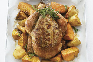 Herb and Cheese Stuffed Roast Chicken
