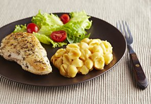Herb-Crusted Chicken with Shells and Cheese