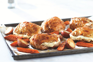 Herb & Garlic Roast Chicken with Balsamic Vegetables