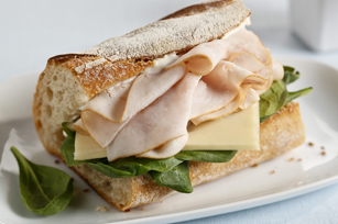 Cheese & Turkey Baguette Image 1
