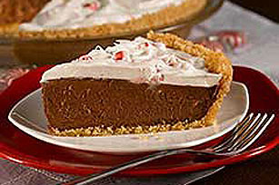 Hint-of-Mint Chocolate Pie Image 1