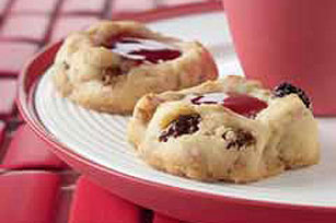 Holiday Jam Thumbprint Cookies