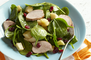 Honey-Glazed Pork and Spinach Salad