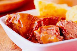 Honey-Mustard Barbecue Pork Ribs Image 1