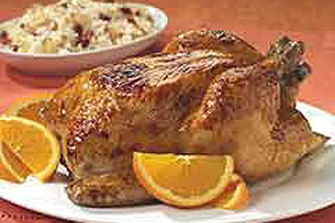 Honey-Roasted Chicken with Orange-Scented Rice Image 1