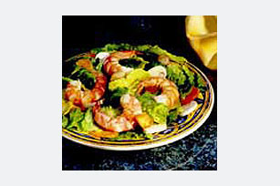 Honey Dijon Salad with Shrimp