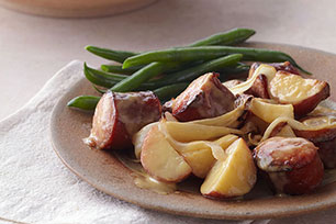 Honey Mustard Kielbasa and Potatoes