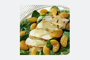 Honey Mustard Spinach Salad with Chicken