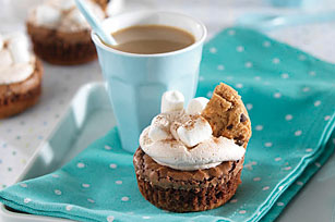 Hot Chocolate-Brownie Cupcakes