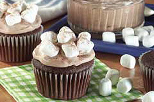 Hot Cocoa-Marshmallow Cupcakes