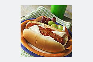 Hot Dogs with Pizza Topping Image 1