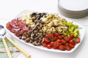 Ensalada de pasta estilo mercado italiano