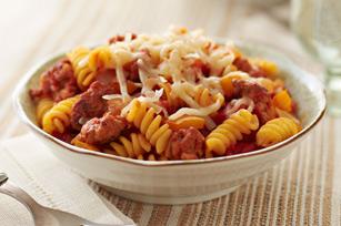 Rotinis à la saucisse et à la tomate