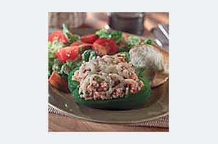 Italian Stuffed Green Peppers Image 1