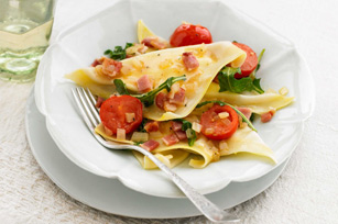 Ravioli With Baby Spinach And Bacon Recipe — Dishmaps