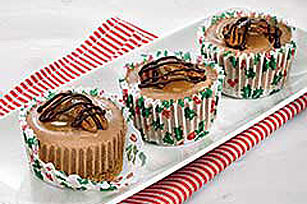 JELL-O No Bake Mini Turtle Cheesecakes Image 1