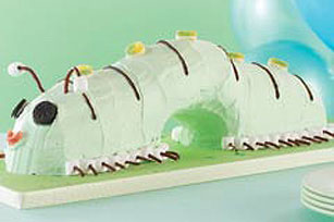 JELL-O Swirled Caterpillar Cake