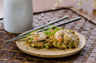 Japanese Pancakes with Shrimp & Sesame Image 1