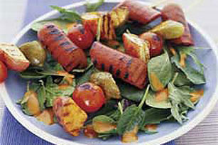 4th of July Hot Dog Kabobs Image 1