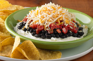 Layered Black Bean Dip