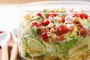 Layered Caesar Bruschetta Salad