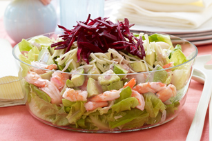 Layered Shrimp and Avocado Salad