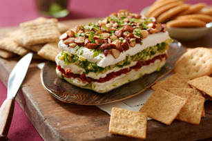 Layered Sun-Dried Tomato & Artichoke Spread