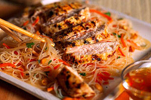 Lemon grass Chicken and Rice Noodles Image 1