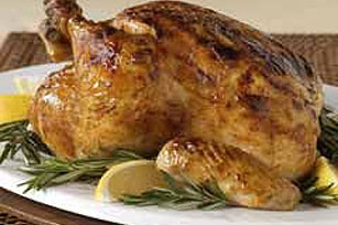 Lemon-Mustard Roasted Chicken Image 1