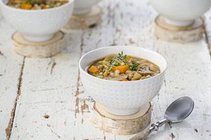 Lentil, Barley & Mushroom Soup