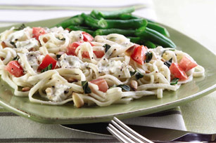 Linguine with Cream Cheese