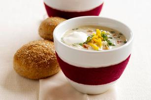 Soupe aux pommes de terre au four