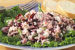 Long Grain and Wild Rice Salad with Blue Cheese, Cranberries and Walnuts
