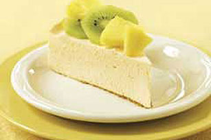 Ensoñador cheesecake tropical bajo en grasa