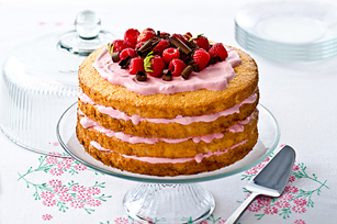 Luscious Angel-Berry Cake Image 1