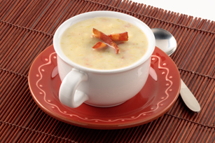 Luscious Potato, Leek & Bacon Soup