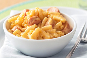 If anyone's interested Chandler actually mentions that mac and cheese with cut up hot dogs are one of his favourite meals in S6. The author would like to thank you .