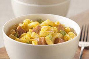 Macaroni and Cheese with Smoked Sausage