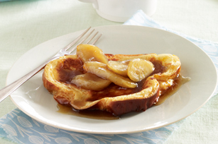 Make-Ahead Maple-Banana French Toast