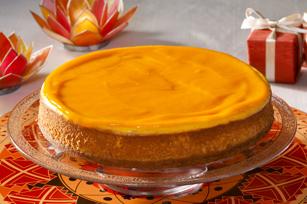 Gâteau au fromage au kulfi à la mangue