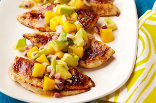 Chili-Rubbed Chicken With Avocado-Mango Salsa Recipes — Dishmaps