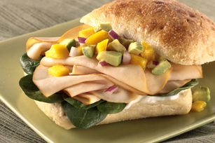 Mango Salsa-Chicken Sandwich