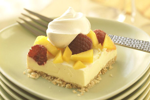 Mango, Berry and Lemon Mousse Dessert Image 1