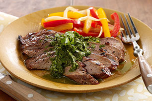 Marinated Steak with Chimichurri Sauce Image 1