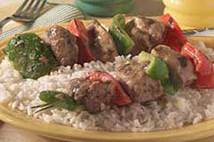 Marinated GREY POUPON Pork Kabobs