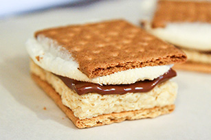 Marshmallow Crispy Treat S'mores