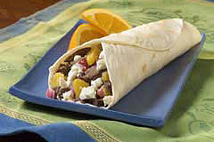 Mediterranean Grilled Steak Wraps Image 1