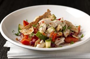 Mediterranean Chicken Panzanella Salad