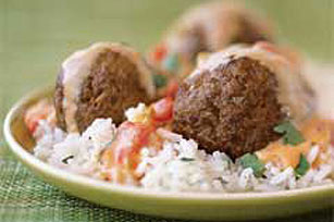 Mexican Appetizer Meatballs in Cheese Sauce Image 1