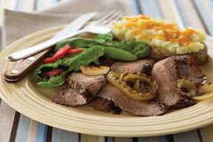 Midwestern Barbecued Flank Steak